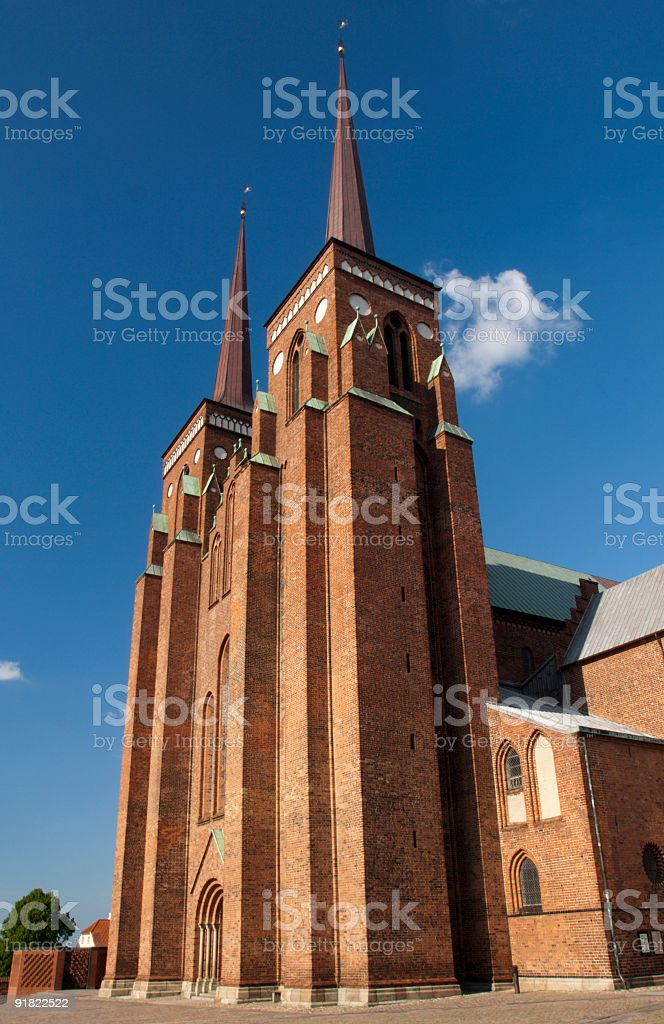 Roskilde Cathedral, Denmark royalty-free stock photo