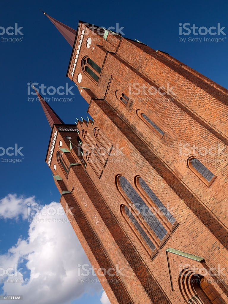 Roskilde Cathedral, Denmark stock photo