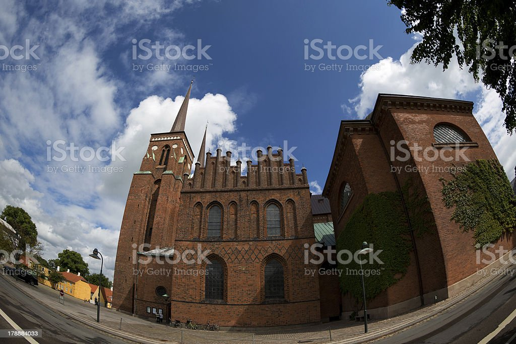 Roskilde cathedral royalty-free stock photo