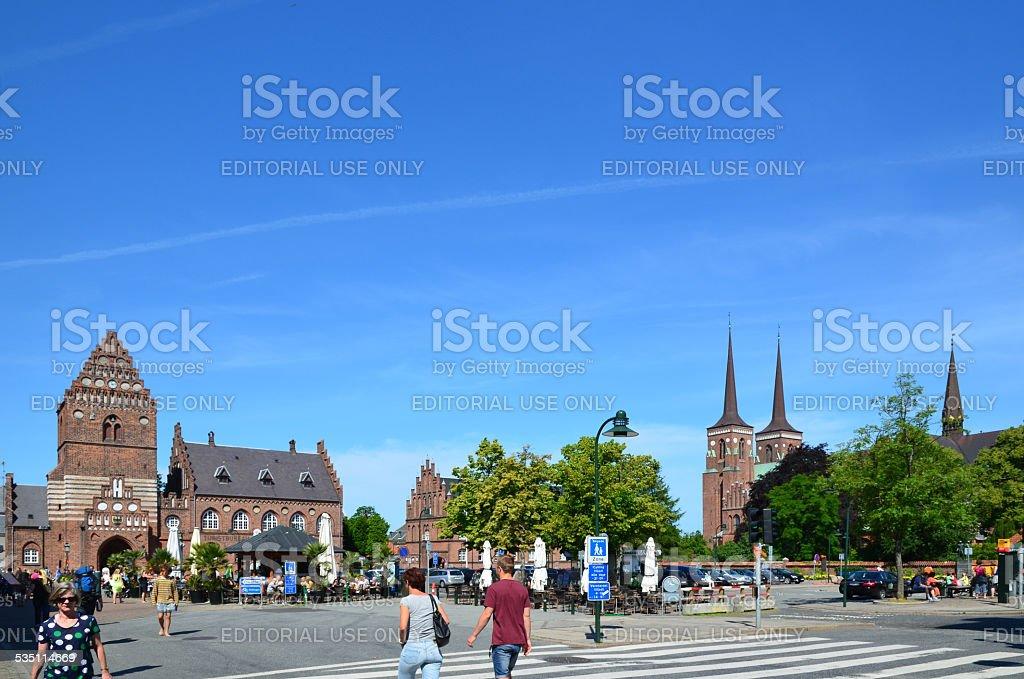 Roskilde city stock photo