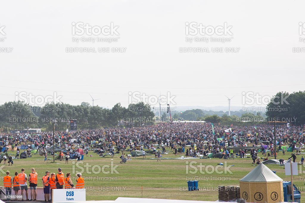 Roskilde Festival 2016 - Camping area opening stock photo