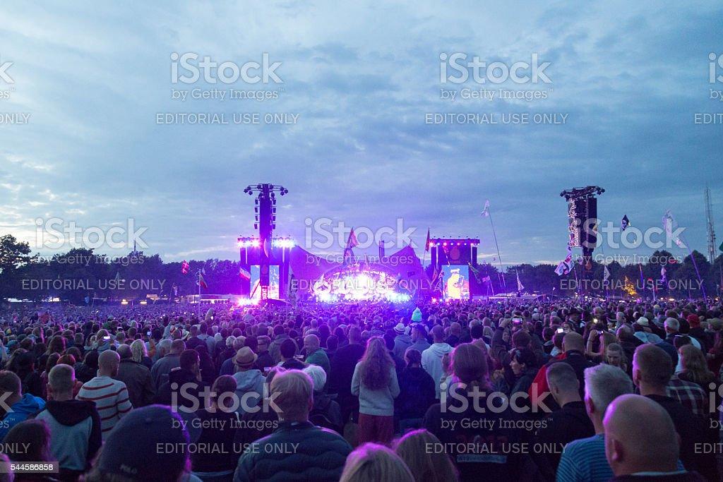 Roskilde Festival 2016 - Orange stage concert stock photo