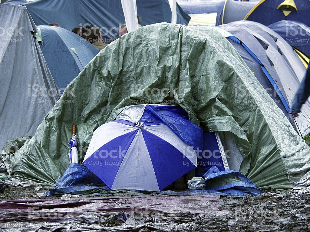 Roskilde Festival (Rain in Pain) royalty-free stock photo
