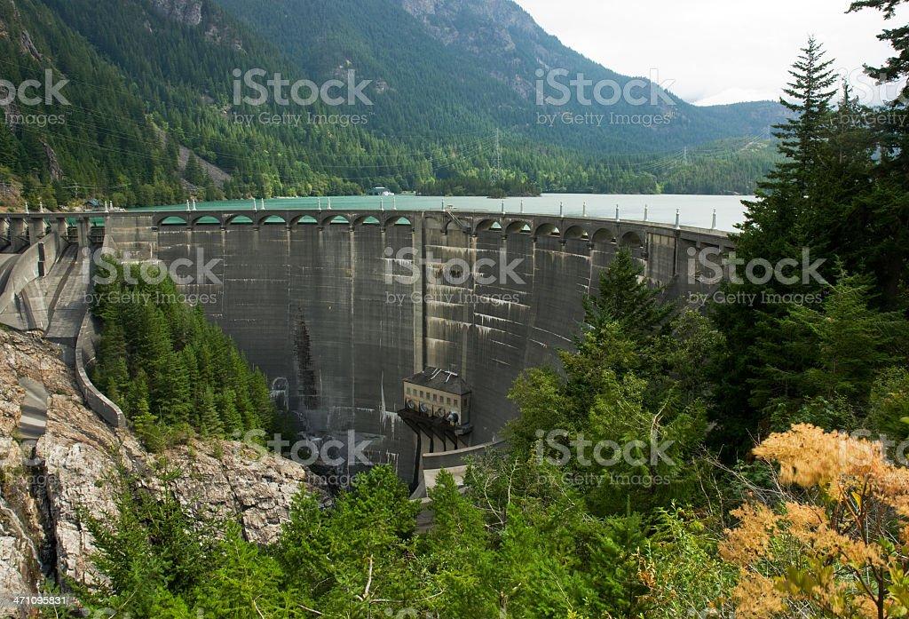 Ross Dam, Washington State royalty-free stock photo