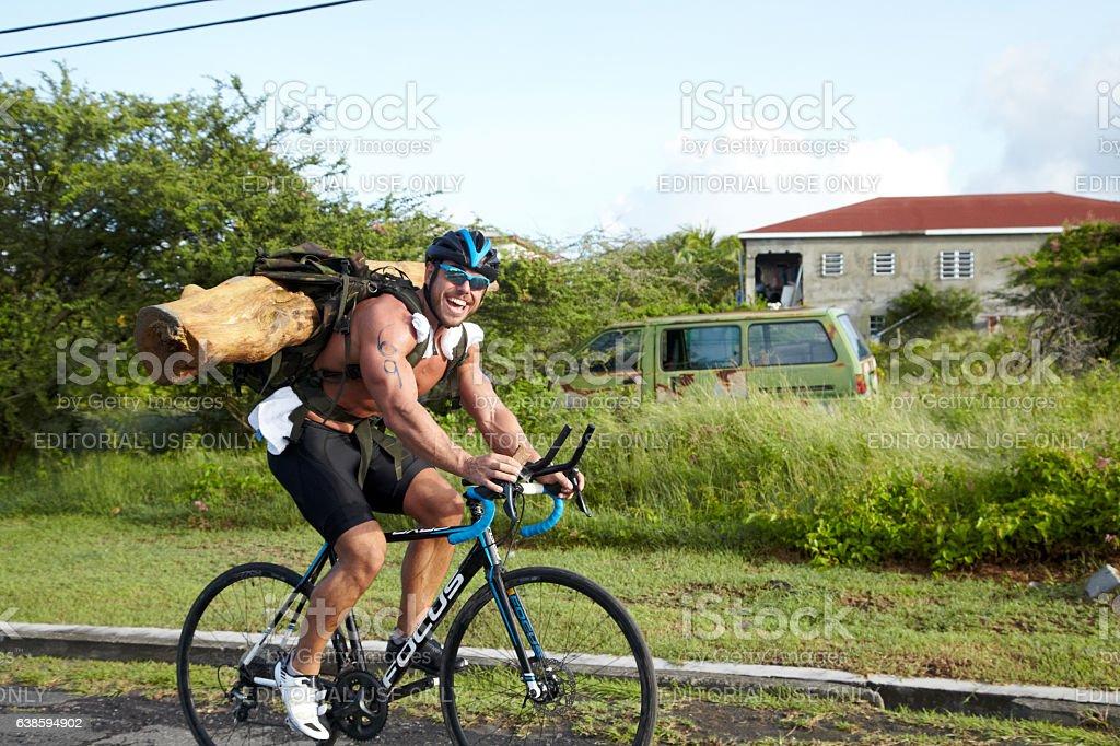 Ross Edgely Triathlon In Nevis West Indies stock photo