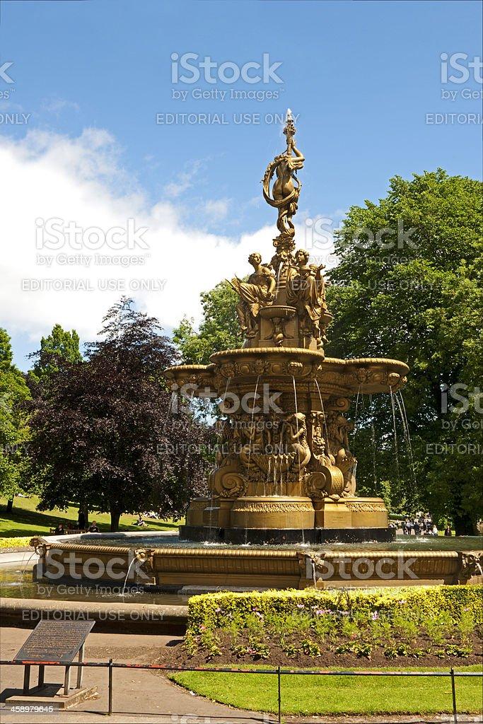 Ross fountain at Edinburgh stock photo
