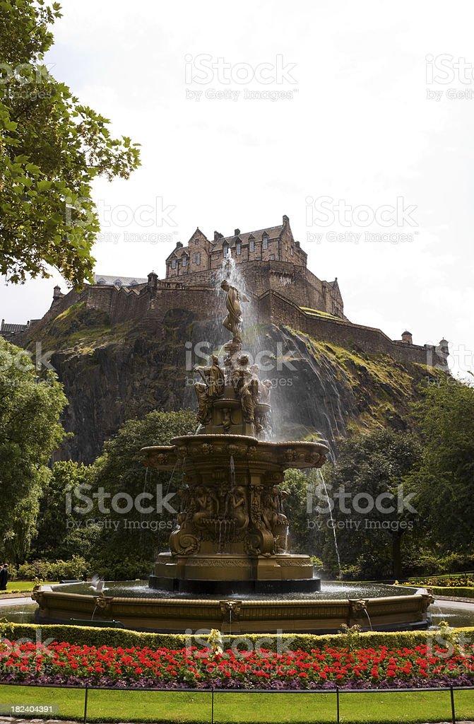 Ross Fountain in Princes Street Gardens, Edinburgh. (XXXL Image Size) stock photo