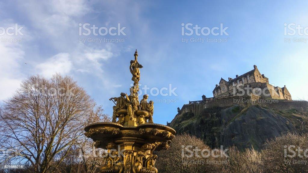 Ross fountain landmark in Pinces Street Gardens stock photo