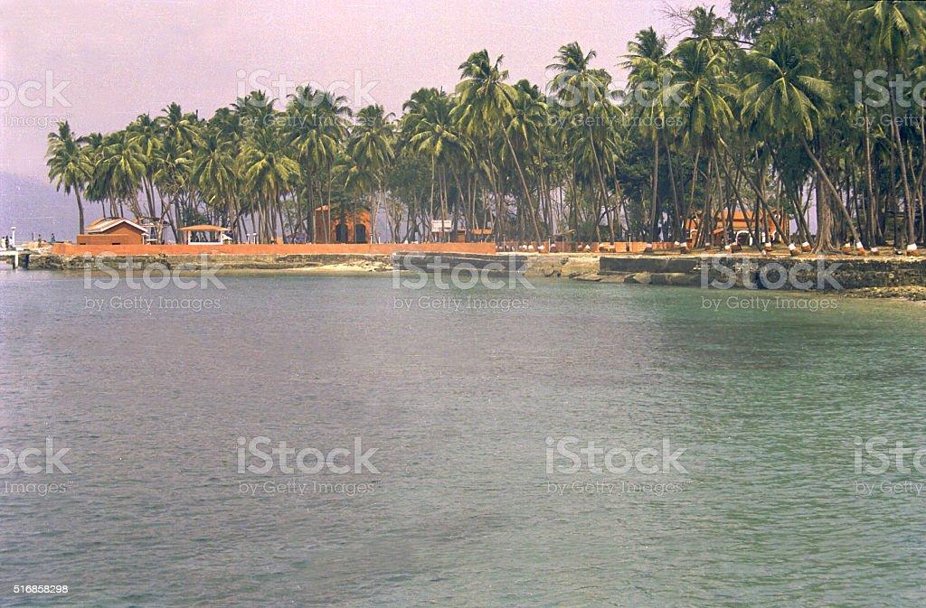 Ross Island near Port Blair stock photo