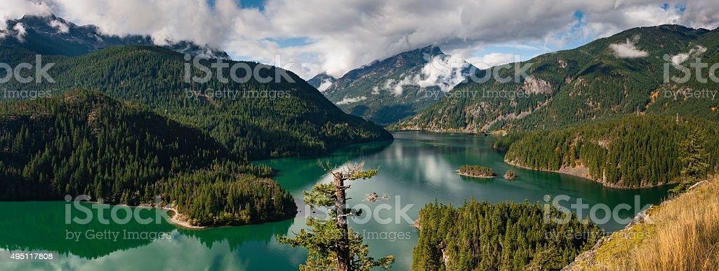 Ross Lake, Washington stock photo
