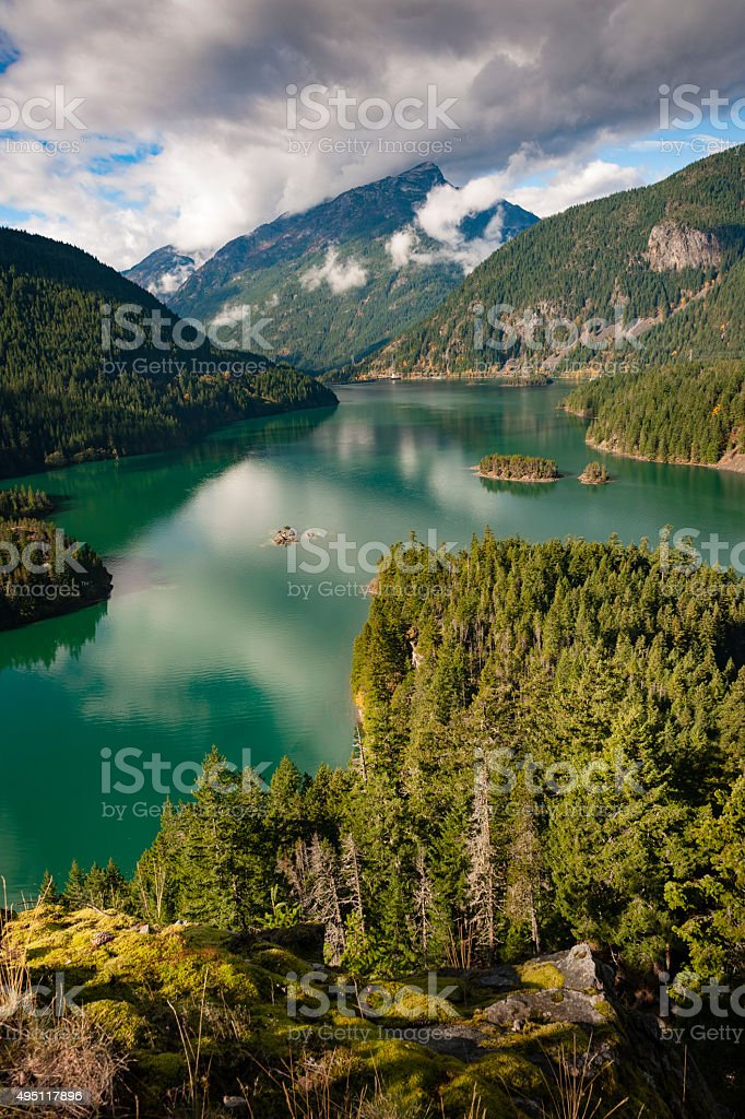 Ross Lake, Washington stock photo