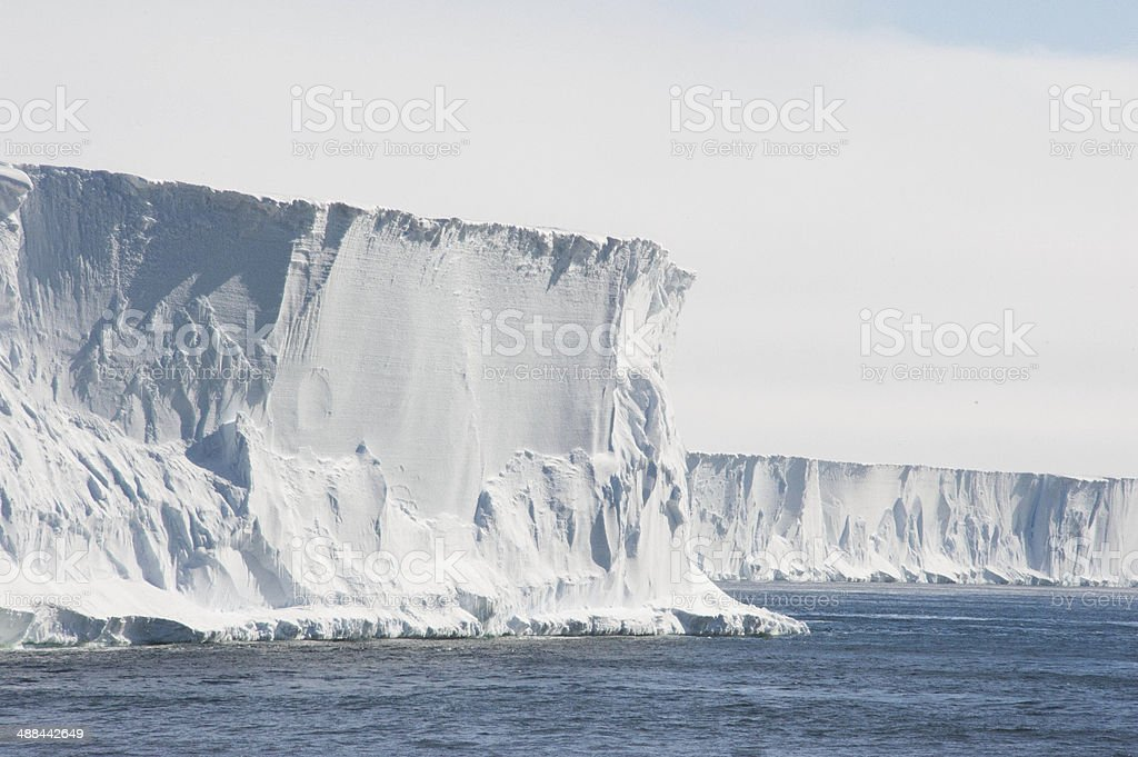 Ross Sea Ice Shelf stock photo