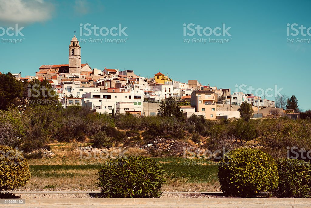 Rossell town stock photo