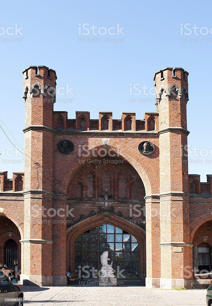 Rossgarten gate. Kaliningrad. Russia royalty-free stock photo