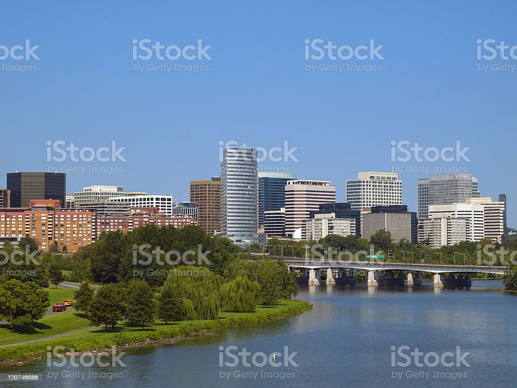 Rosslyn District in Washington DC stock photo