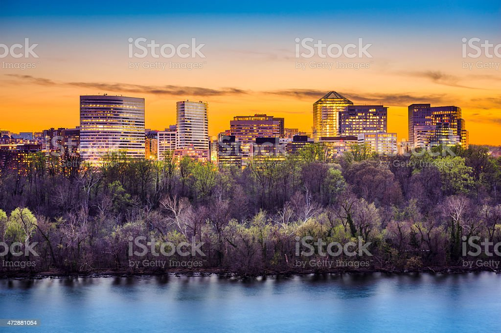 Rosslyn Skyline stock photo