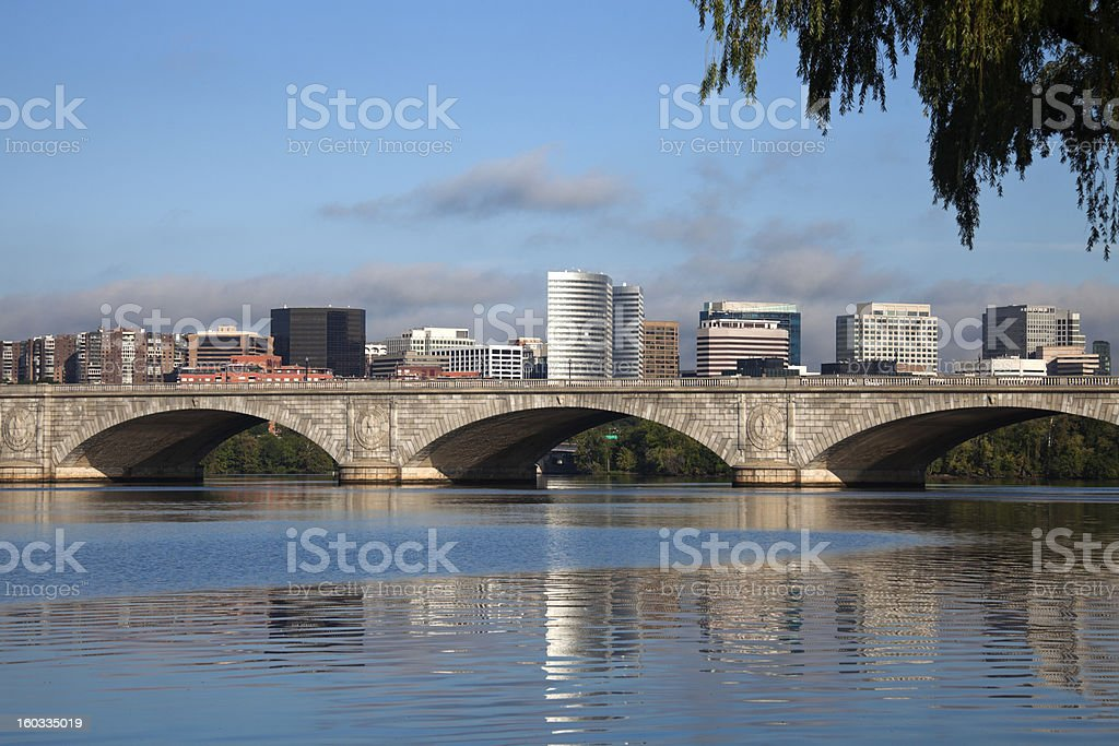Rosslyn, Virginia and Potomac River stock photo