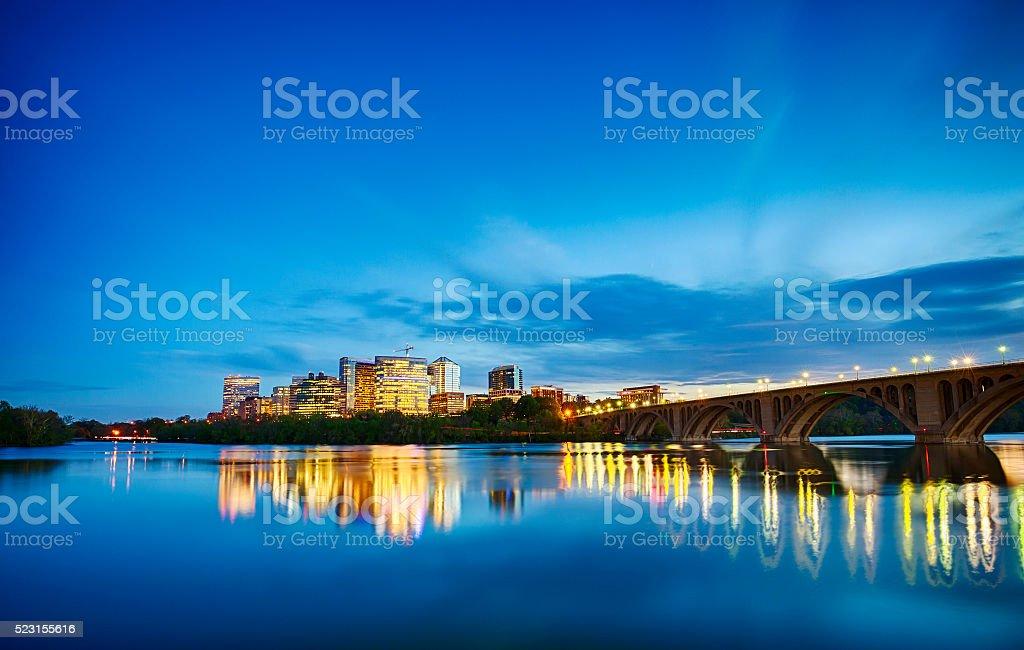 Rosslyn, Virginia At Night stock photo
