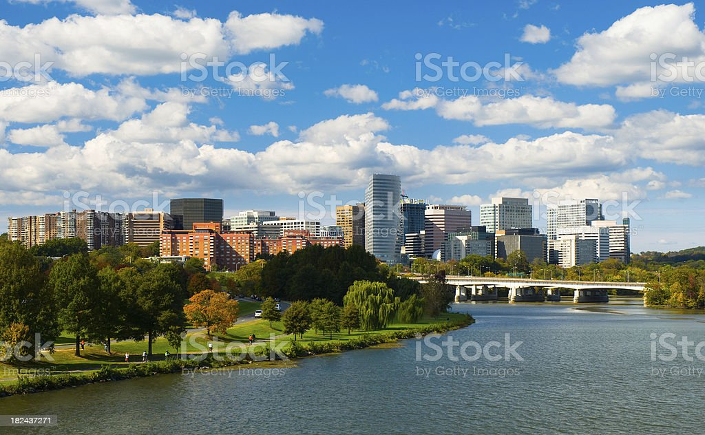 Rosslyn, Virginia skyline royalty-free stock photo