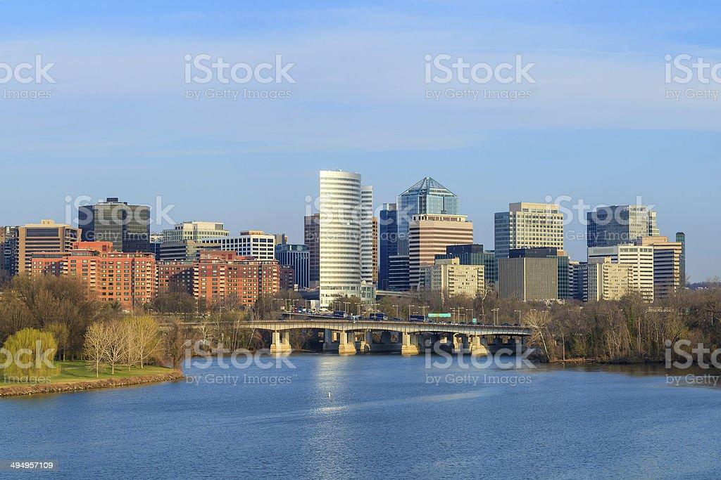 Rosslyn Virginia skyline Washington, DC stock photo