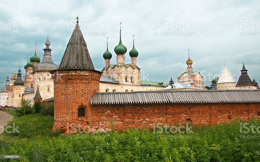 Rostov Kremlin Towers view royalty-free stock photo