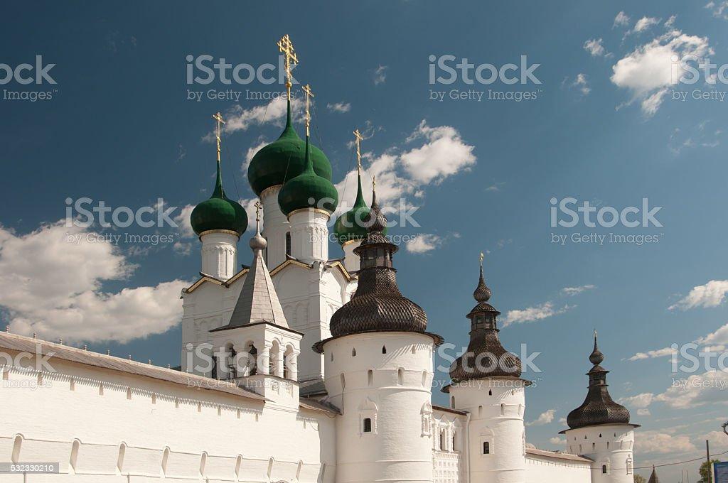 Rostov the Great in spring stock photo