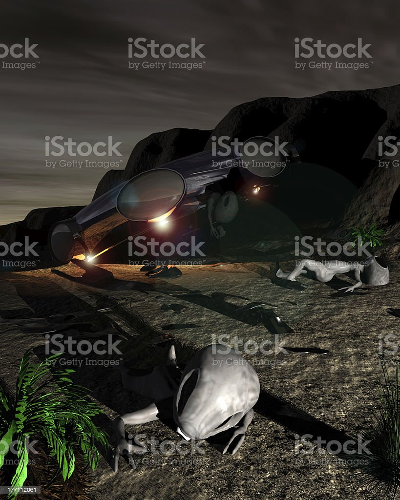 Roswell Like Night stock photo