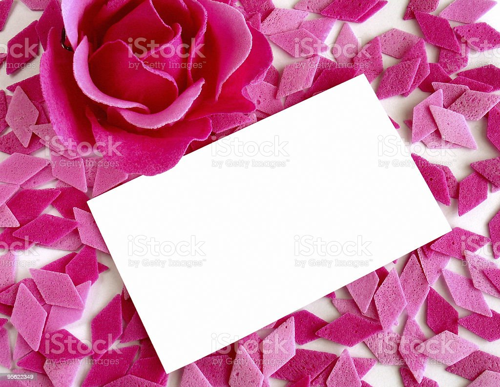 rosy background and a note royalty-free stock photo