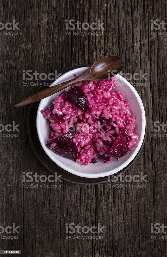 Rosy Beet Risotto stock photo
