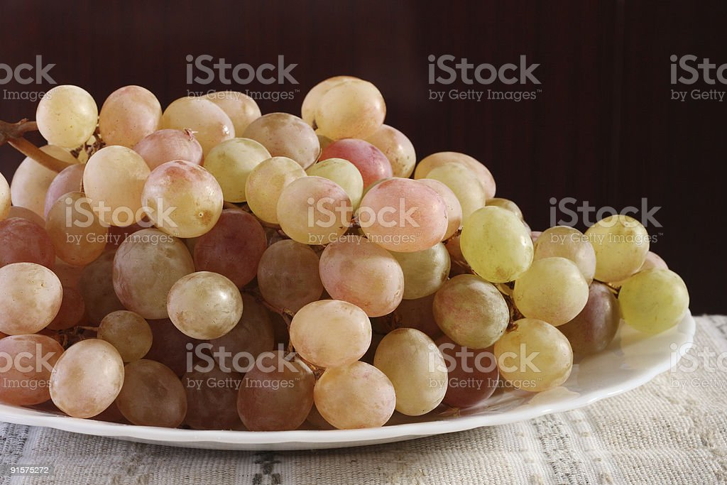 Rosy grapes royalty-free stock photo