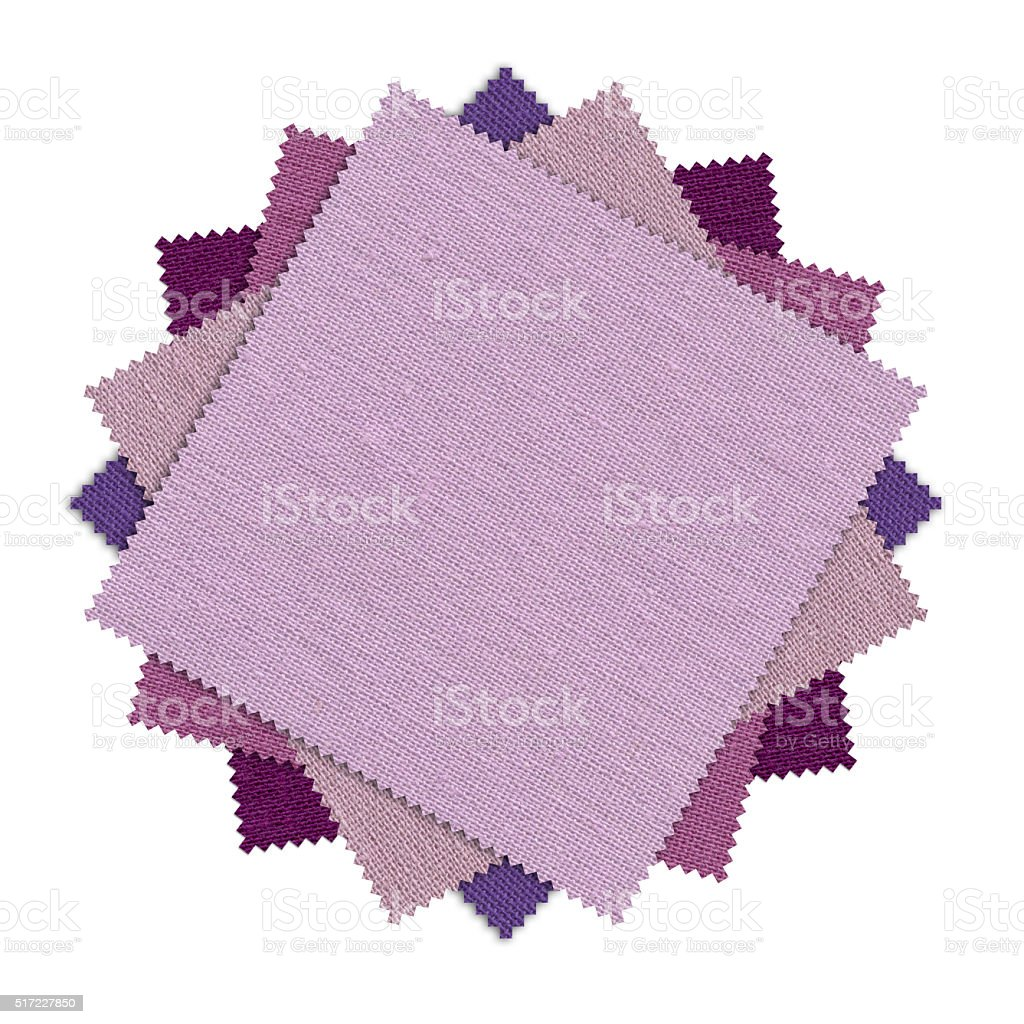 Rosy, Purple and Orchid Combine Pattern Fabric Swatch (Clipping Path) stock photo
