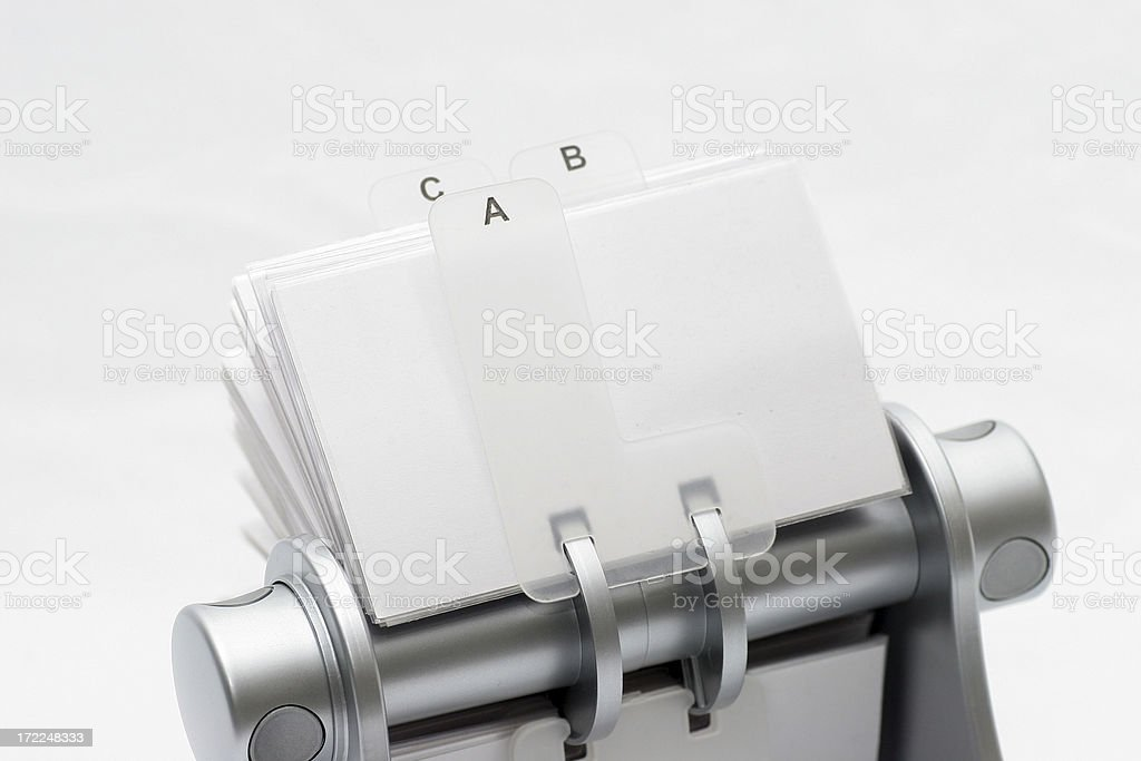 Rotary card file, isolated royalty-free stock photo