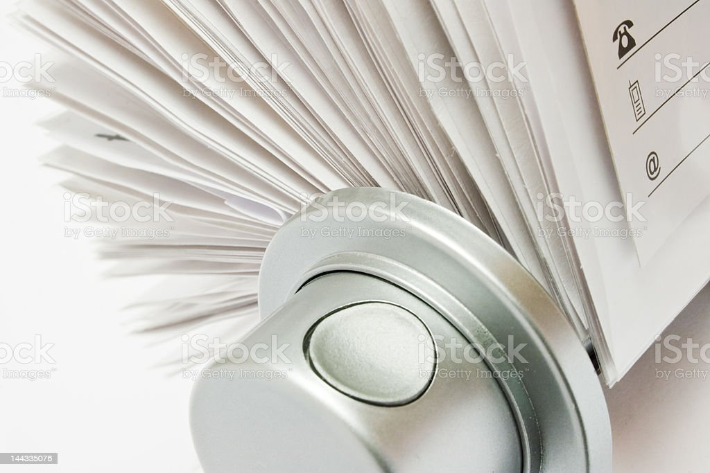 Rotary Card File Part stock photo