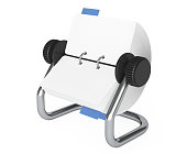 Rotary Desk Card Index. 3d Rendering