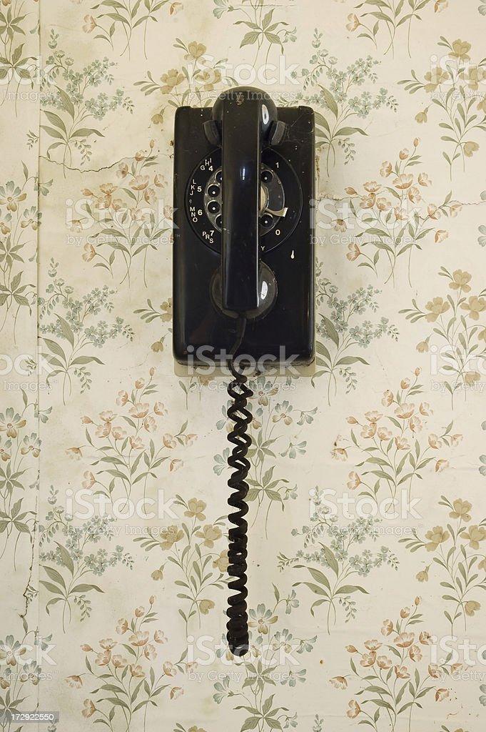 Rotary dial telephone royalty-free stock photo