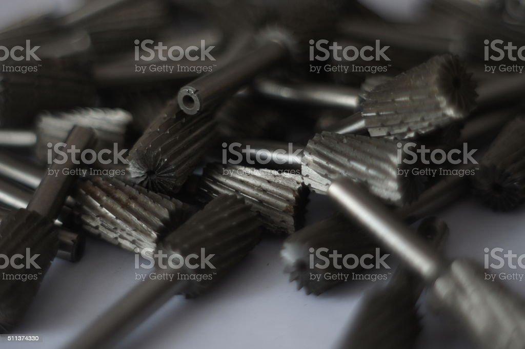 Rotary files stock photo