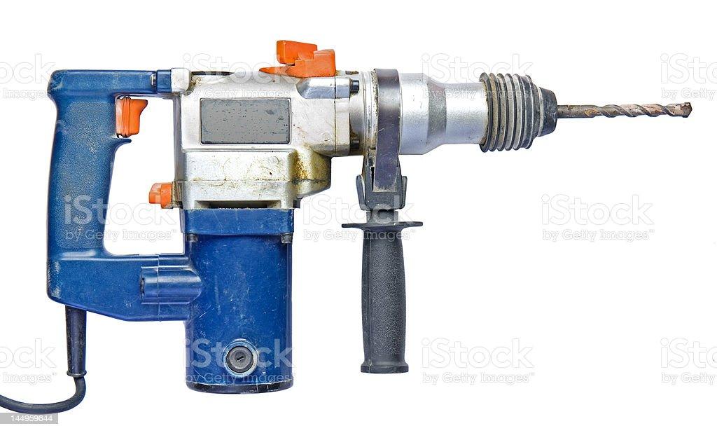 Rotary hammer stock photo