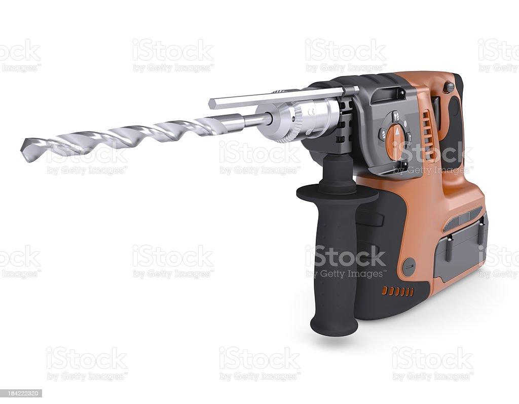 Rotary hammer royalty-free stock photo