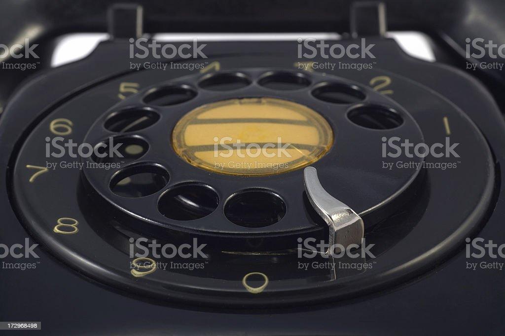 Rotary Phone Dial stock photo