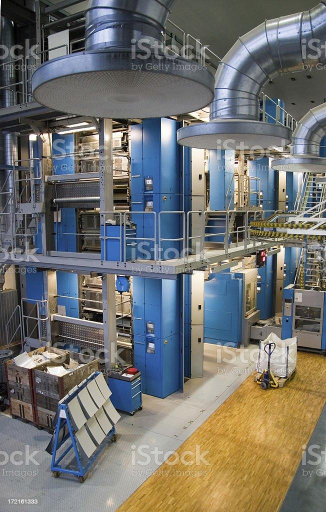 Rotary printing press stock photo