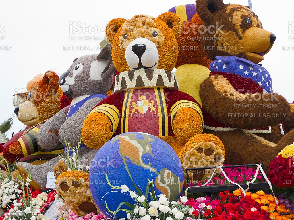 Rotary Rose Parade Committee Float royalty-free stock photo