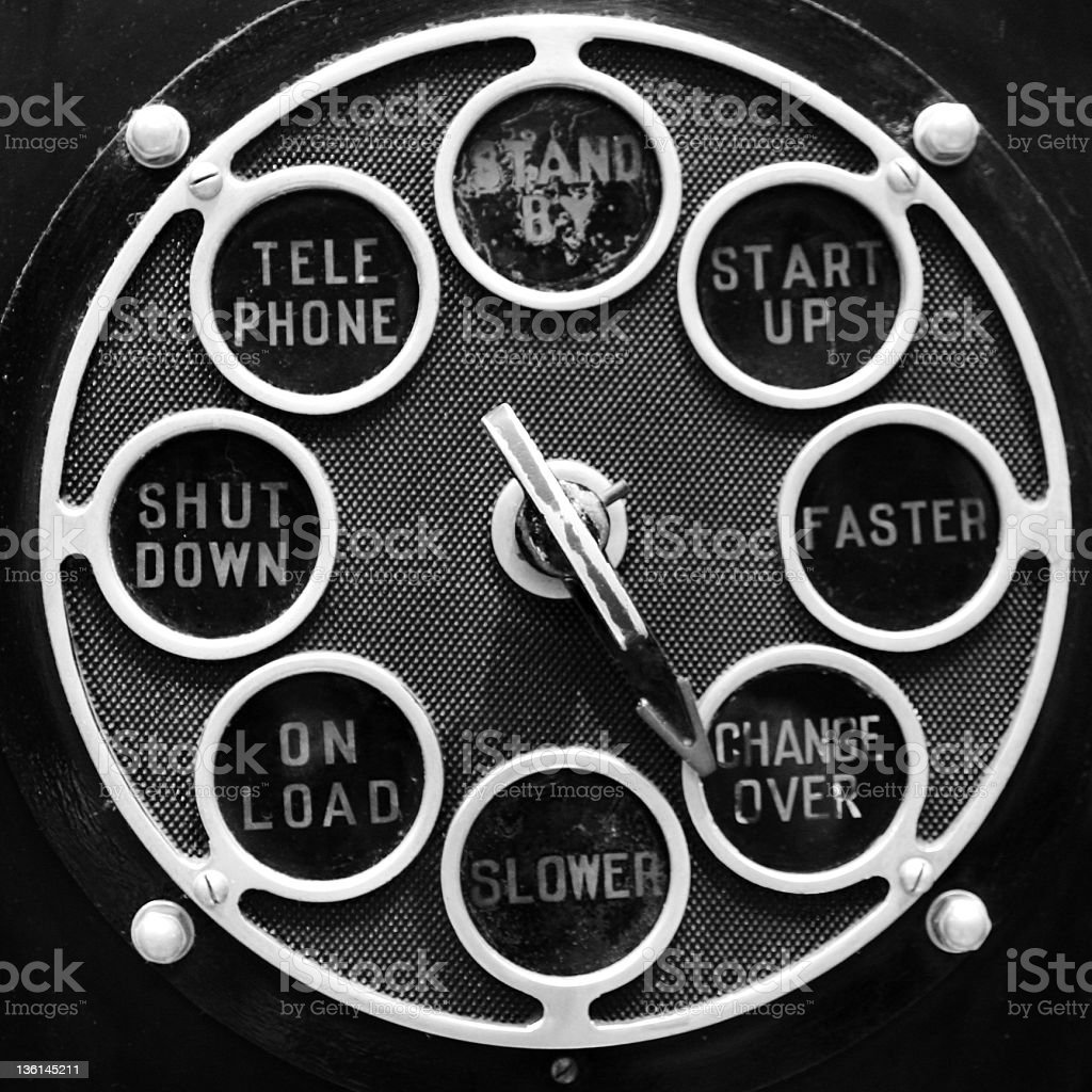 rotary selector royalty-free stock photo