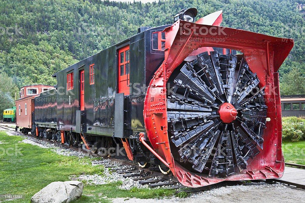 Rotary Snowplow, White Pass & Yukon Route Railroad stock photo