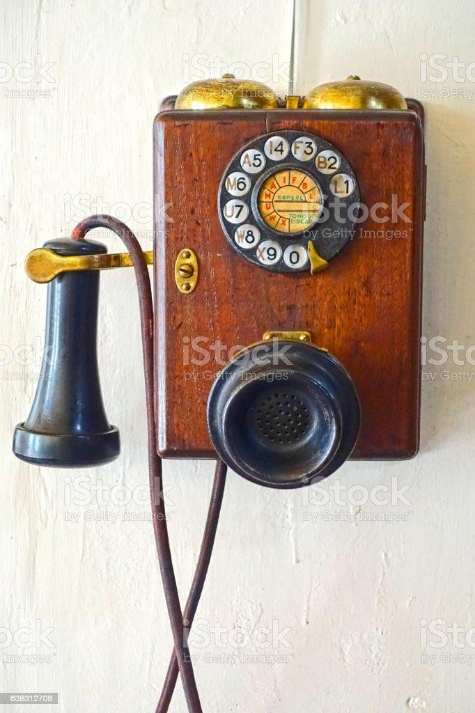 Rotary Telephone stock photo