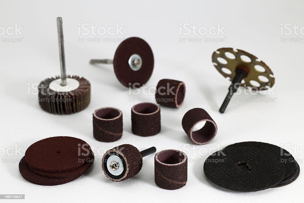Rotary Tool Bits royalty-free stock photo