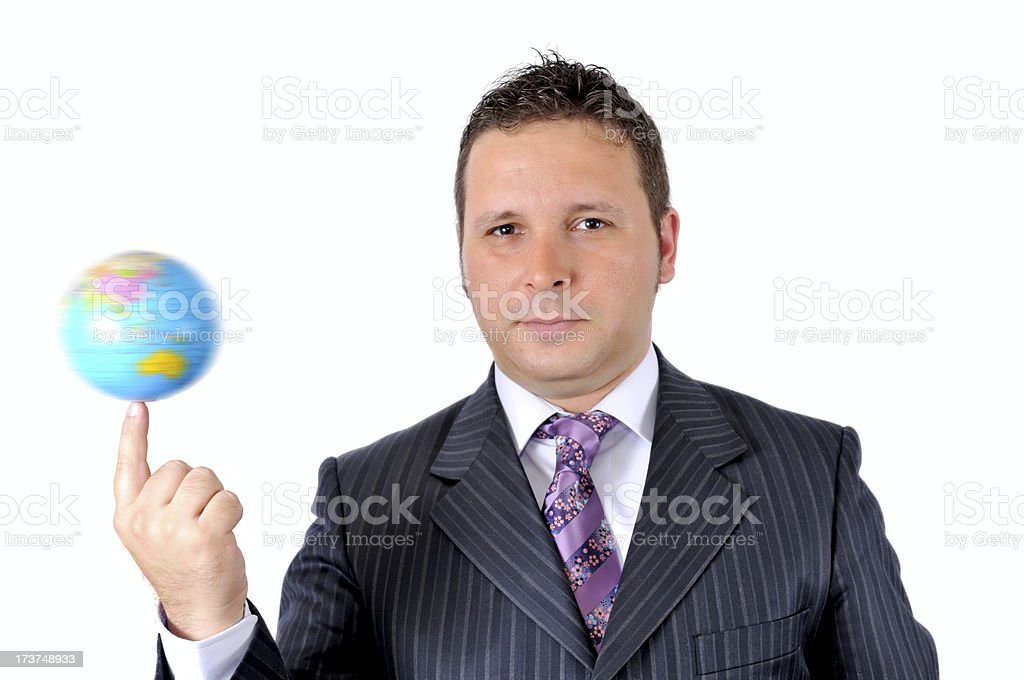 rotate world on the finger royalty-free stock photo
