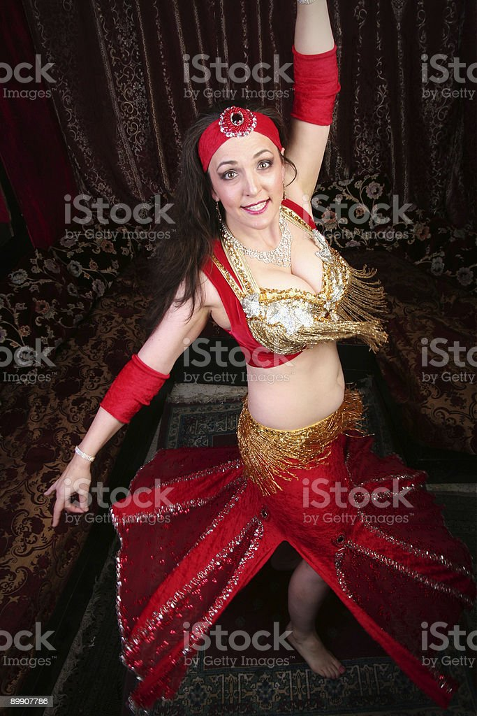 rotating belly dancer royalty-free stock photo