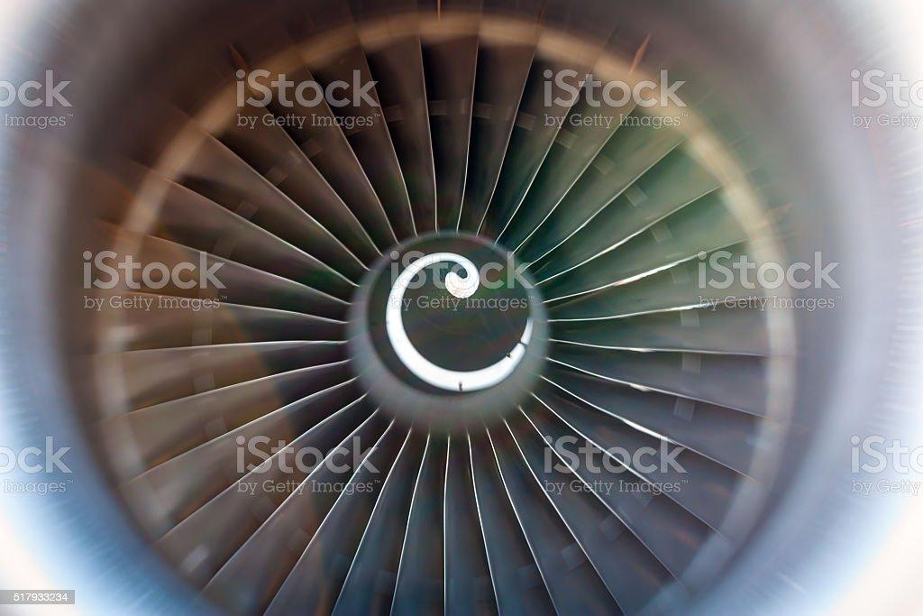 Rotating blades of the turbojet royalty-free stock photo