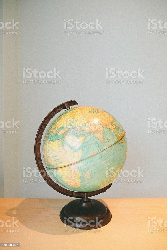 Rotating Globe stock photo