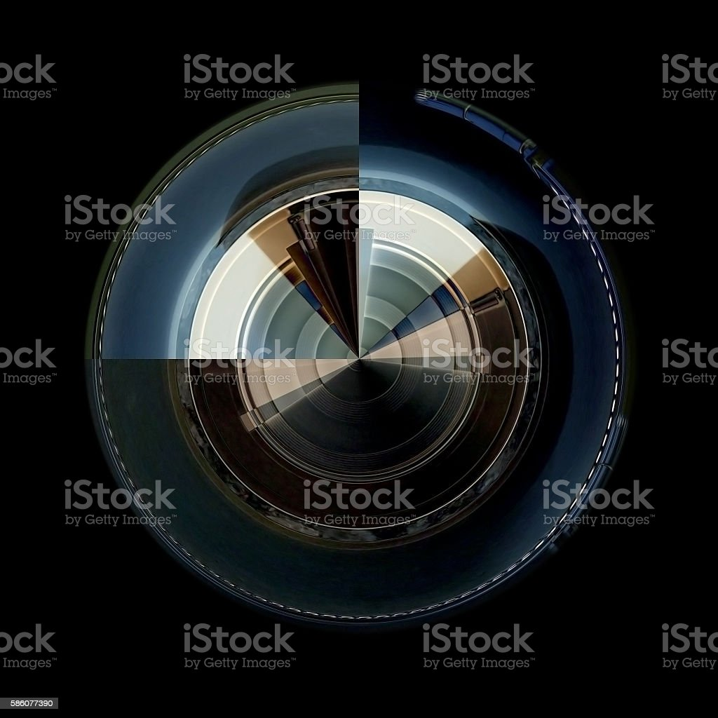 Rotating parts of a machinery or device. stock photo